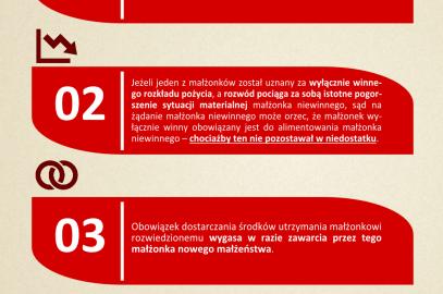 Obowiązek alimentacyjny pomiędzy byłymi małżonkami – infografika